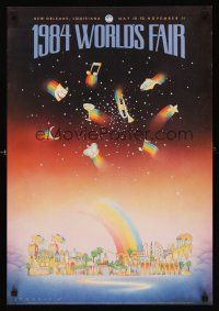 8a045 1984 WORLD'S FAIR special 18x26 '84 St. Germain art of rainbows & much more!