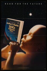 8a218 2010 book 22x34 poster '84 wacky image of star child reading the novel!