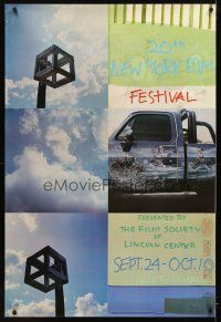 8a364 20TH NEW YORK FILM FESTIVAL film festival poster '82 cool images by Robert Rauschenberg!