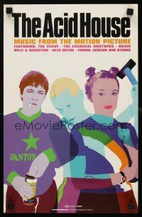 8a449 ACID HOUSE soundtrack 11x17 poster '98 3 short bizarre English stories by Irvine Welsh!