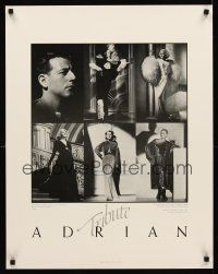 8a450 ADRIAN TRIBUTE heavy stock hand numbered 9/500 22x28 exhibition '82 images of Garbo, Harlow!