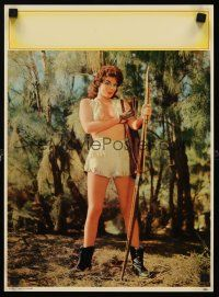 8a072 AIM TO PLEASE calendar sample '59 cool image of sexy nearly naked woman w/bow!