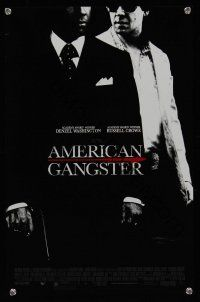 8a455 AMERICAN GANGSTER mini poster '07 Denzel Washington, Russell Crowe, Ridley Scott directed!