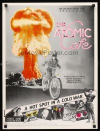 8a458 ATOMIC CAFE special 18x24 '82 great colorful nuclear bomb explosion image!