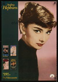 8a367 AUDREY HEPBURN video special 24x37 '88 cool image of star in Funny Face!