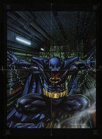 8a091 BATMAN Canadian special 13x18 '92 DC Comics, cool Stelfreeze art of superhero in chains!