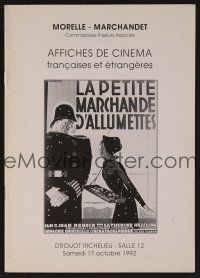 1x339 AFFICHES DE CINEMA 10/17/92 auction catalog '92 lots of French poster images!