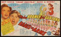 1x526 BABES IN ARMS Australian herald '39 Mickey Rooney, Judy Garland, Busby Berkeley directed!