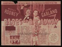 1x527 BABES ON BROADWAY Australian herald '41 different images of Mickey Rooney, Judy Garland!