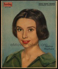 1x349 AUDREY HEPBURN magazine cover '59 wonderful portrait image of the sexy actress w/short hair!