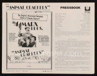 1x566 ANIMAL CRACKERS pressbook R74 all four Marx Brothers in a classic of comedy classics!