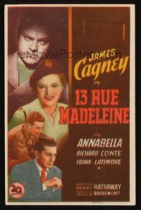 1x534 13 RUE MADELEINE Spanish herald '48 different art of James Cagney & Richard Conte!