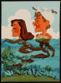 1x015 ANDY HARDY'S DOUBLE LIFE trade ad '42 Kapralik art of Mickey Rooney & Esther Williams!