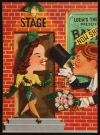 1x016 BABES ON BROADWAY trade ad '41 Kapralik art of Mickey Rooney with Judy Garland!