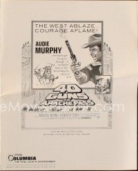 1x562 40 GUNS TO APACHE PASS pressbook '67 Audie Murphy has to get the guns through... or else!