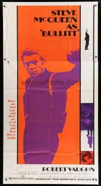 7c253 BULLITT 3sh '68 full-length Steve McQueen, car chase classic, never before auctioned!