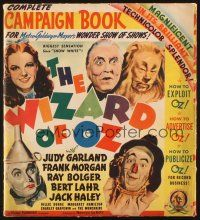 7c001 WIZARD OF OZ signed pressbook with 4 sections and herald '39 by Raabe, Hamilton, AND Maren!