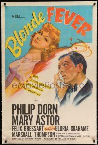 9f048 BLONDE FEVER linen 1sh '44 introducing Gloria Grahame, who is gorgeous & dangerous!
