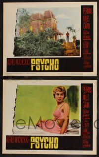 9j219 PSYCHO 8 LCs '60 Alfred Hitchcock classic, Janet Leigh & Anthony Perkins, great scenes!