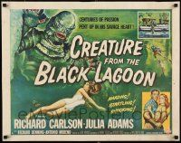 2y070 CREATURE FROM THE BLACK LAGOON style A 1/2sh '54 Reynold Brown art of monster & Julie Adams!