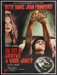 3s138 WHAT EVER HAPPENED TO BABY JANE? linen style B French 1p '62 Mascii art of Davis & Crawford!