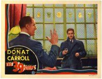 3t306 39 STEPS LC '35 Alfred Hitchcock, image of Robert Donat w/ Tearle - the man with 4 fingers!