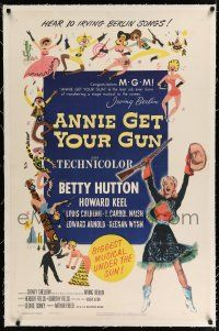 5m008 ANNIE GET YOUR GUN linen 1sh R56 Betty Hutton as the greatest sharpshooter, Howard Keel