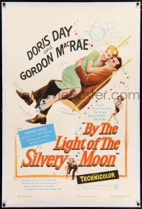 5m030 BY THE LIGHT OF THE SILVERY MOON linen 1sh '53 great romantic art of Doris Day & Gordon McRae!