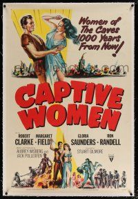 5m031 CAPTIVE WOMEN linen 1sh '52 futuristic sexy sci-fi 1,000 years after the atom bomb!