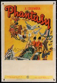 5m034 COLUMBIA PHANTASY CARTOON linen 1sh '39 Columbia, cool art of Mother Goose & other characters!