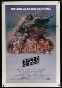 5m049 EMPIRE STRIKES BACK linen purple variant style B 1sh '80 George Lucas classic, Tom Jung art!