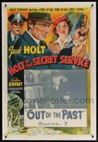 5m067 HOLT OF THE SECRET SERVICE linen chapter 7 1sh '41 Jack Holt, cool serial art, Out of the Past