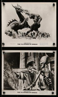 9s355 7th VOYAGE OF SINBAD 8 8x10 stills R75 Harryhausen fantasy classic, art and f/x scenes!
