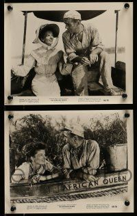 9s693 AFRICAN QUEEN 4 8x10 stills R68 close up of Humphrey Bogart laughing at Katharine Hepburn!