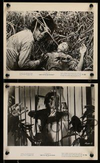 9s697 BEAST OF THE YELLOW NIGHT 4 8x10 stills '71 wacky horror monster images, Roger Corman!