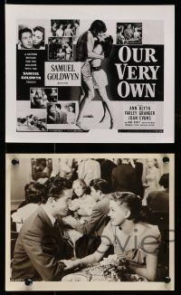 9s655 OUR VERY OWN 5 8x10 stills '50 Ann Blyth, young Natalie Wood, Evans, Wyatt, Cook, Milner!