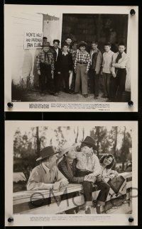 9s656 OUT CALIFORNIA WAY 5 8x10 stills '46 Monty Hale, Lorna Gray, Bobby Blake, Fan Club!