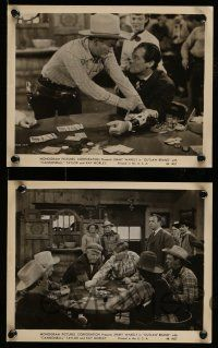 9s767 OUTLAW BRAND 4 8x10 stills '48 singing cowboy Jimmy Wakely, Dub Cannonball Taylor, gambling!