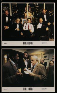 9s054 PHILADELPHIA 8 8x10 mini LCs '93 Tom Hanks, Denzel Washington, Robards & Banderas + cast!