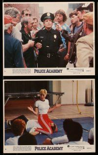 9s055 POLICE ACADEMY 8 8x10 mini LCs '84 Guttenberg, Kim Cattrall, Bubba Smith, Michael Winslow!