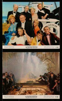 9s057 POSEIDON ADVENTURE 8 color 8x10 stills '72 Gene Hackman, Ernest Borgnine, Winters, top cast!