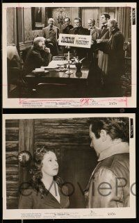 9s773 PRESIDENT'S LADY 4 8x10 stills '53 great images of Susan Hayward & Charlton Heston!