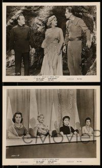 9s775 QUEEN OF OUTER SPACE 4 8x10 stills '58 great images of sexy Zsa Zsa Gabor on Venus!