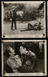 9s895 RETURN OF JESSE JAMES 3 8x10 stills '50 John Ireland as the outlaw's lookalike!