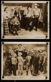 9s896 ROARING RANGERS 3 8x10 stills '45 Charles Starrett as the Durango Kid, Smiley Burnette