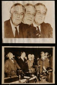 9s777 ROOSEVELT STORY 4 8x10 stills '48 cool documentary images of President Franklin Delano!