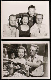 9s159 RUN FOR THE SUN 25 8x10 stills '56 Richard Widmark, Trevor Howard, Jane Greer, Nazi criminals