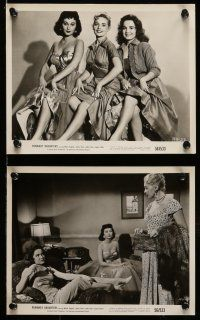 9s304 RUNAWAY DAUGHTERS 10 8x10 stills '56 AIP bad girls, they called Marla English jailbait!