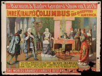 8c004 COLUMBUS & THE DISCOVERY OF AMERICA 30x40 circus poster 1892 part of Barnum & Bailey Circus!