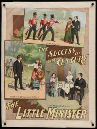 8c018 LITTLE MINISTER 26x34 stage poster 1897 by Peter Pan's J.M. Barrie, first play version!